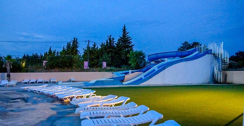 transats piscine camping mas de l isle